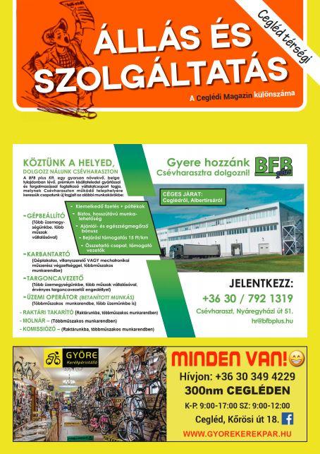 Cegléd Térségi Állás és Szolgáltatás Magazin - 2021. Július