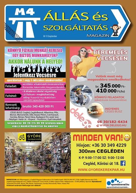 M4 ÁLLÁS és Szolgáltatás Magazin - 2021. SZEPTEMBER